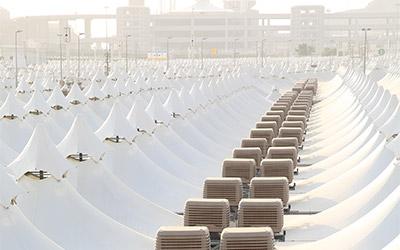 Come ti climatizzo 100mila tende nel deserto arabo