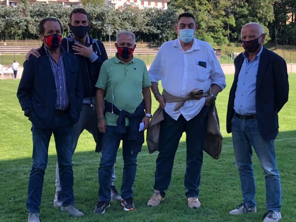 Marco Treghini (presidente), Mauro Moretti (custode) e Claudio Tonini (allenatore) GS OlmoPonte A.S.D.
